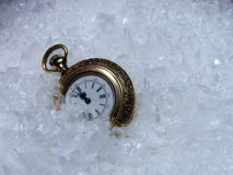 A Watch in the Snow Royalty Free Stock Images
