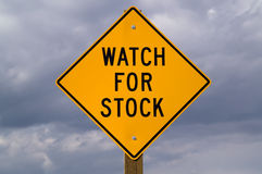 Watch for Stock sign Stock Image