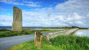The Watch Stone, Orkney, Scotland stock video footage