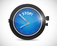 Watch and stop sign illustration design Stock Image