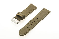 Watch strap leather. Isolated on white background stock image