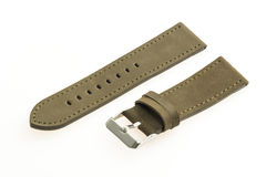 Watch strap leather. Isolated on white background royalty free stock photo