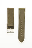 Watch strap leather. Isolated on white background royalty free stock photography