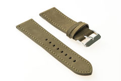 Watch strap leather. Isolated on white background royalty free stock images