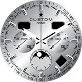 Watch Template C. Watch face template vector illustration Stock Photo