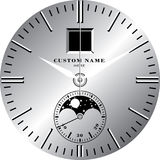 Watch Template E. Watch face template vector illustration Stock Image