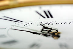 Watch the time. Clock closeup Stock Image