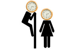 Watch the time Stock Images