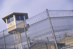 Watch tower. At a CA State Prison royalty free stock photos