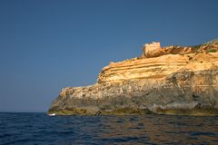 Watch Tower. A Tower built in the 16th century and was used to guard the coast from foe. Malta Stock Photography