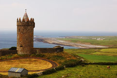 Watch Tower. Old Watch Tower over the Coast stock images
