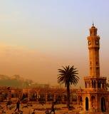 Watch tower. Of izmir during sun set Stock Images
