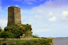 Watch tower. A watch tower overlooking a bay in county Wexford Ireland Stock Image