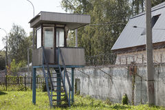 Watch tower in abandoned prison Stock Photography