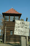Watch tower at Auschwitz Concentration Camp Royalty Free Stock Photos