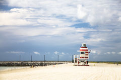 Watch tower on the beach Stock Photography