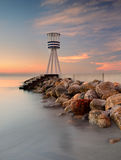 Watch tower. At the beach Royalty Free Stock Photo