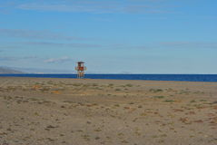 Watch-tower on the beach Stock Image