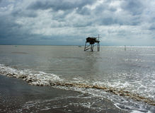 Watch tower on beach Royalty Free Stock Photos