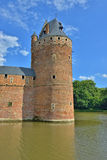 Watch tower of Beersel Castle in Belgium Royalty Free Stock Photo