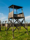 Watch tower in Birkenau Royalty Free Stock Image