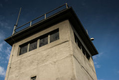 Watch tower. At the border east, west stock photo