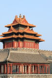 Watch tower of Chinese palace Stock Photo