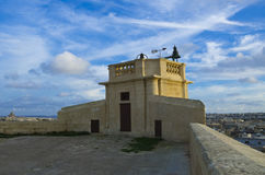 Siege tower. The watch tower at the top of the citadel Gozo Royalty Free Stock Image
