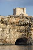 Watch Tower On Cliff, Malta. The famous Comino Tower in Malta Stock Photography
