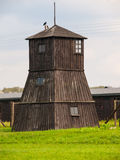 Watch tower in concentration camp Stock Image