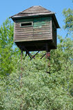Watch tower in Danubes's delta. Birdwatching tower in Danube Delta Royalty Free Stock Photography
