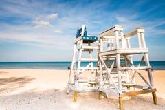 Watch tower on the Evanston Beach Stock Photo