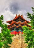 Watch Tower of the Forbidden City in Beijing. China royalty free stock photos