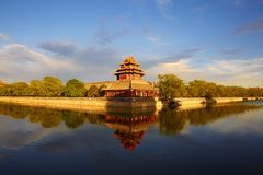 Watch tower of forbidden city, Beijing Royalty Free Stock Image