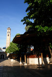 Watch tower and fount in Sarajevo Royalty Free Stock Photography