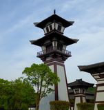 A watch tower in the front of Wu palace Royalty Free Stock Images
