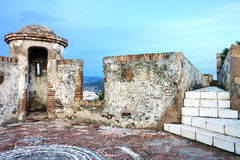 A watch tower of the Gibralfaro Castle in Malaga, Spain Stock Photo