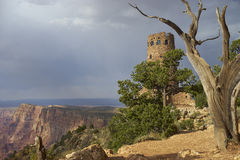 Watch tower at Grand Canyon National Park, USA Stock Photo