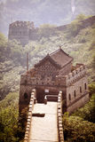 Watch tower from the Great Wall of China. Royalty Free Stock Photos