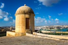 Watch Tower in Hastings Garden in Valletta Royalty Free Stock Photo