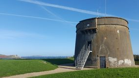 Watch tower at the irish coast Royalty Free Stock Images