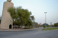 Watch Tower, Junction, Al Maqta, Abu Dhabi Stock Photo