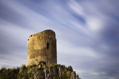 Watch Tower. Long exposure of a 16th century watch tower at Isola Delle Femmine in Sicily royalty free stock photo