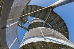 Watch-tower Made Of Spiral Staircases Near Lelystad Airport, The Netherlands Royalty Free Stock Image
