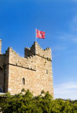 Watch tower at medieval castle. Watch tower at medieval castlle in Dalkey, Ireland Stock Images