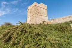 Watch Tower near Blue Grotto in Malta. Coastal watch tower near Blue Grotto in Malta Stock Photo