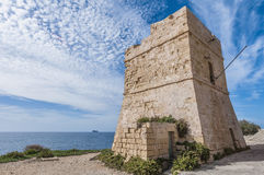 Watch tower near Blue Grotto in Malta Stock Image