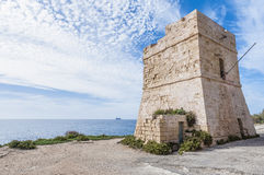 Watch tower near Blue Grotto in Malta Stock Images