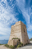 Watch tower near Blue Grotto in Malta Royalty Free Stock Photo