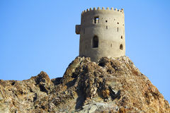Watch Tower in Oman- ancient Stock Images